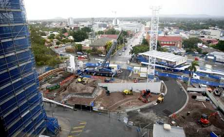 The Ipswich Hospital extension underway for a 2014 completion date. Photo: Sarah Harvey / The Queensland Times