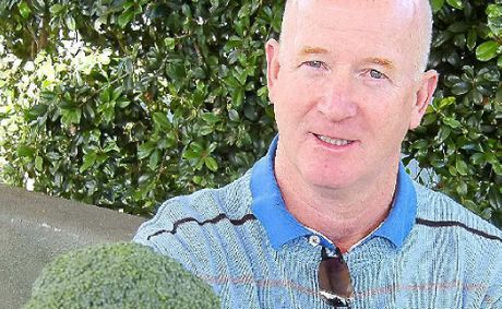 Dr David Richards with broccoli, which science is showing to be possibly the healthiest vegetable available to humans.