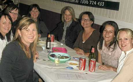 Brainiacs ready to battle it out at the St Patrick's School Trivia Night in Allora last Friday night.