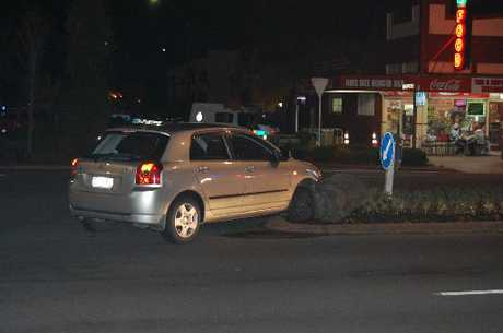 OOPS: Toyota Corolla parked on centre island at the intersection of Fenton St and Pukuatua St.