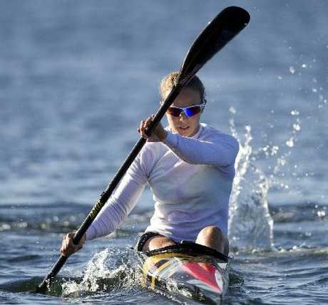 New Zealand canoeist Lisa Carrington.