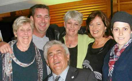 FESTIVAL LAUNCH: At last Fridays launch of the Ballina Coastal Country Music Festival are mayor Cr Phillip Silver with (back, from left) organiser Carol Stacey, Northern Star/Advocate Ballina sales manager Alf Boston, Paradise FMs Jenny Ellenbroek, Cr Robyn Hordern and festival ambassador and performer Jenny Biddle.