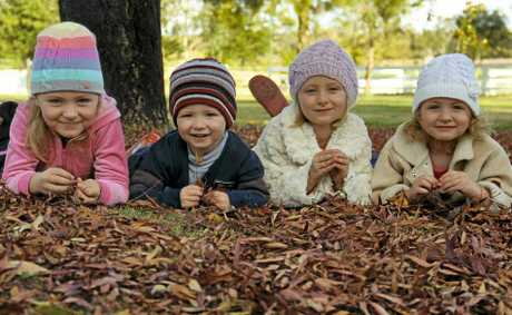 Liley, Izak, Zara and Neve Kruger enjoy the perks of the cool weather.