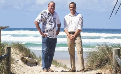 Luke Staunton and Tony McGinty are looking forward to the start of work on a new boutique development at Casuarina.