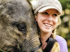 Hervey Bay's Amanda French meets two-year-old Bona, an orphaned Sumatran elephant.