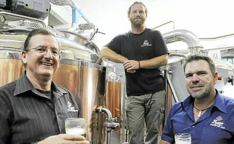 The Brewery's owner Barry Schadel, brewer Stuart Ritchie and manager Adam Rose.