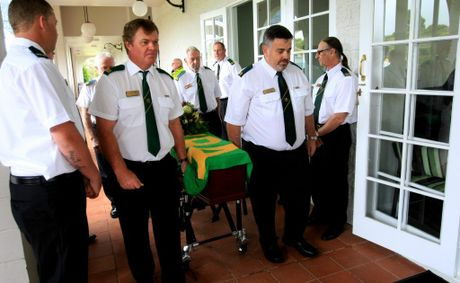 The funeral of Bob Counter at Melaleuca.