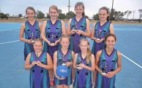 WINNING TEAM: Biloela Netball Sapphires took out top place in the junior division three at the Pam Moore Carnival in Gladstone.