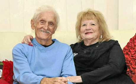Ken Tongue, pictured with wife Mary, is grateful his bowel cancer was diagnosed early.