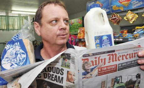 SAVE MONEY: You can save about $3 a day when you buy your milk, bread and Daily Mercury in one transaction at Russell Fagg's Kookaburra's Convenience Store in Mirani.