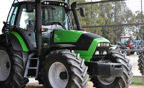 There was an increase in large tractor sales in April.