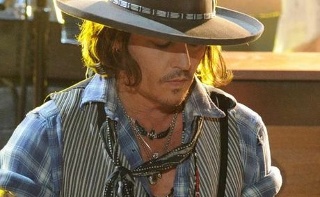 Johnny Depp at the MTV Movie Awards.
