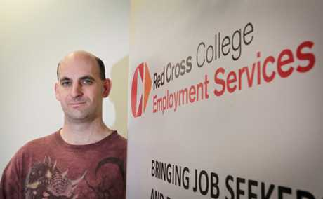 EMPLOYMENT ASSISTANCE: Matthew Thomas has secured employment with the help of the Red Cross.