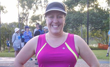 Camilla Petterson at the weekend's Rocky River Run. Before she started her 12-Week Body Transformation, she could barely walk 5km.