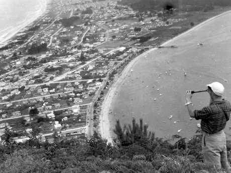 What the view from Mount Maunganui looked like in 1952.
