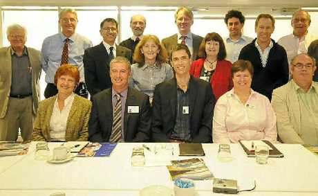 HEALTHY DEBATE: Local health issues were discussed at the VIP Roundtable event marking the launch of North Coast Medicare Local in Lismore on Monday. NCML's CEO Vahid Saberi is pictured third from left in the back row.