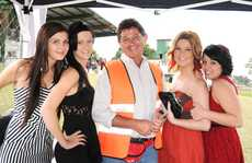 Caitlin Chorley, Kristy Van Dam, Phil Neumann, Nikki Rea and Laura Brown at the Gatton Cup Race Day.