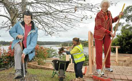 Kathryn Getliffe, Jacky Kelk and Trish Davies hope to revamp the botanical gardens in Cooroy.
