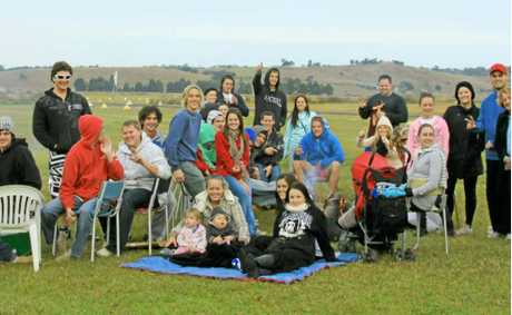 Friends and family of the late Kyle Clifford gathered at South Grafton airport last year for his memorial.