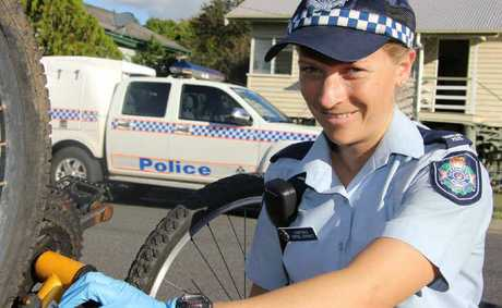 Constable Sophie Gorbacz enjoys helping people in the community in her role with the police.