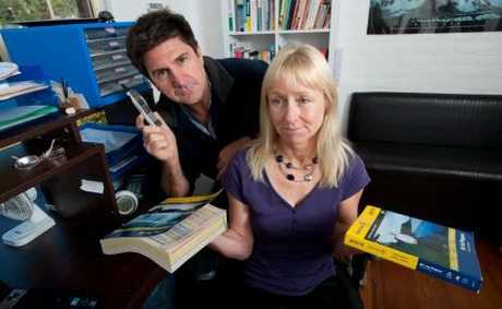 MISPLACED AD: Louise and Colin Williams are disappointed their phone book ads have been placed in the Lismore directory.