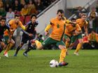 ROMANIA left it late before beating the Socceroos 3-2 in a friendly in Malaga, Spain.