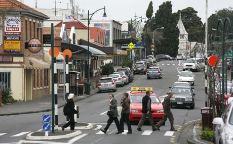 A view of Howick's main street, Picton Street