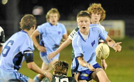 Action from the 2010 Daily Examiner DEX Shield rugby league final. Photo: Adam Hourigan