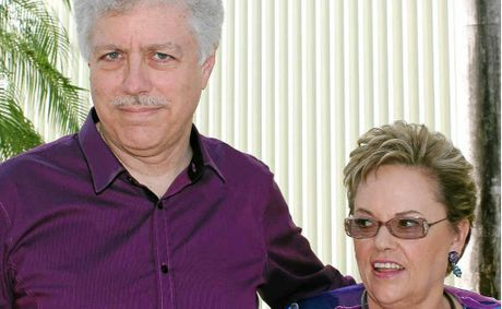 Lindy Chamberlain-Creighton and her husband Rick Creighton in Darwin.