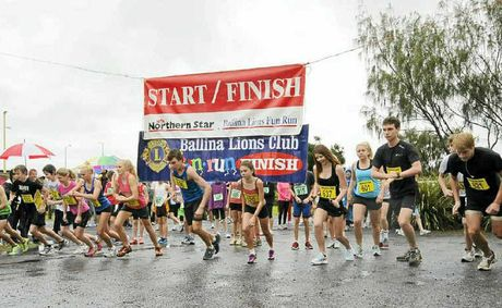 THEY'RE OFF: Pictured is the start of one of the youth events at last Sunday's Ballina Lions Fun-Run-Walk.