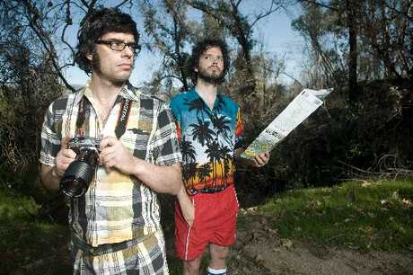 TOUCH DOWN: Flight of the Conchords arrived in Hawke's Bay yesterday, to prepare for the first concert on their New Zealand tour in Hastings, tonight. PHOTO/FILE