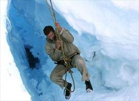 Tim Jarvis photographed during the making of 'Mawson: Life and Death in Antarctica' (2007)