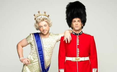Hamish Blake, left, and Andy Lee star in the new TV series Hamish and Andy&#39;s Euro Gap Year.