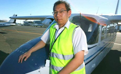 Andy Wong and his fellow Rockhampton Aero Club pilots are busy flying charter aircraft to the coal mines out west.