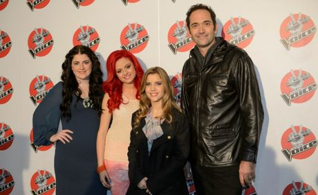 The Voice final four, from left, Karise Eden, Sarah de Bono, Rachael Leahcar and Darren Percival.