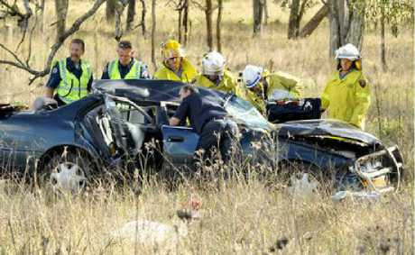 A 20-year-old woman was airlifted to hospital yesterday after a crash at Southbrook.