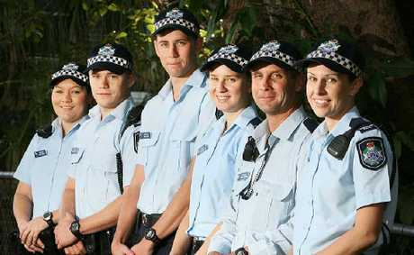 New Ipswich officers Paula Owens, Tonino Trilford, Ben Gilbert, Loren Crowley, Mick Gregory and Louise Peek.