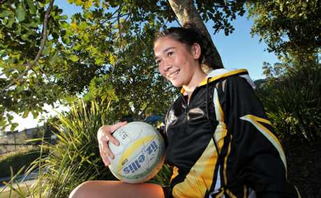 Edyn Boyes, 11, has made the under 12 Queensland netball team.