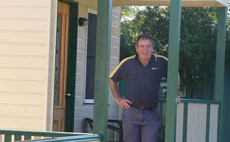 GROWING: Taroom's Country Cabins owner Ashley Adcock with the three new cabins he has added to his accommodation business.