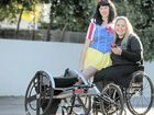 "Stephanie ""Snow White"" Muller and Marayke Jonkers gear up for the charity movie night."
