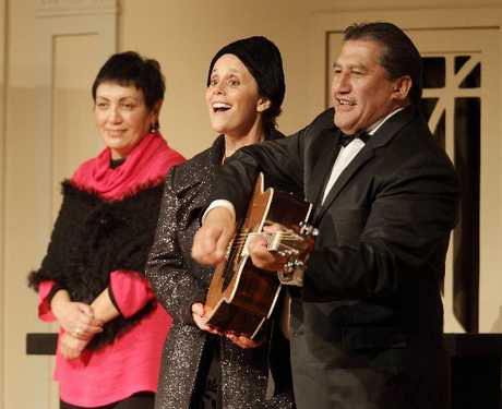 Te Taiwhenua o Heretaunga chief executive Alayna Watene, entertainer Hinewehi Mohi and 