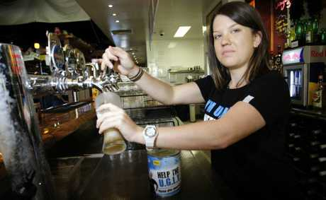 Hogs Breath Cafe bartender Kylie Blatchford will take part in the UGLY bar tender fundraiser. Photo Vicki Wood / Caboolture News