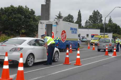 DANGER: A drink-driving checkpoint in Masterton. Police say the drink-drive message is not getting through to some drivers.