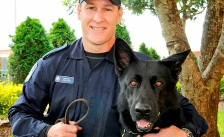 Senior Constable Glen Ayoub and Ribot.