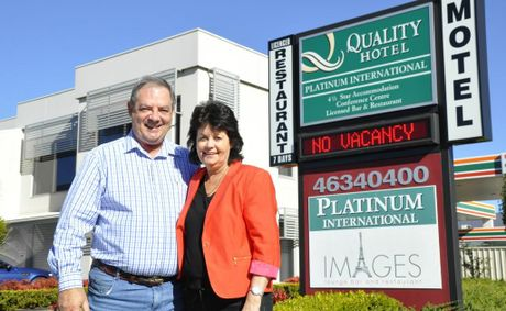 Quality Hotel Platinum International owners Graham and Colleen Cosgrove.