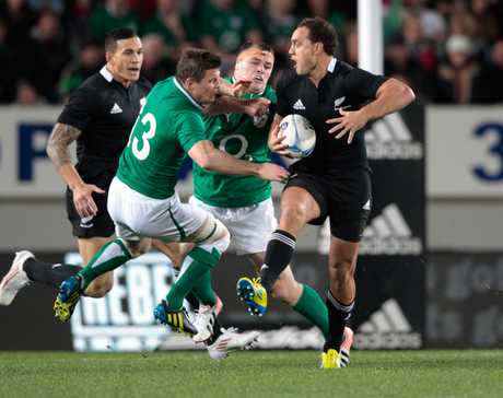 All Blacks fullback Israel Dagg in action against Ireland.
