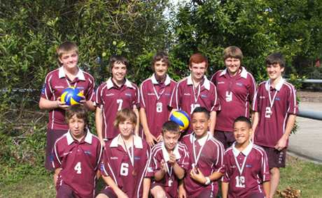 CHAMPIONS: Browns Plains Year 9 boys won gold at the Metropolitan Volleyball Finals.