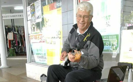 MUSIC IN THE STREET: Busker Ron Sinclair is helping brighten up Ballina's CBD with music.
