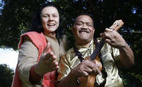 FOLK SONGS: Sandra Kovac and Faaua Lologa will use their performing skills at upcoming multicultural concerts.