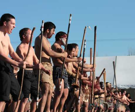 The first powhiri (welcome)